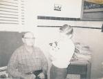 Great-grandpa Ed Hook and Tim 12/23/68