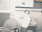 Great-grandpa Ed Hook and Tim 12/23/68