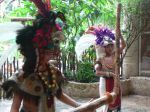 """These """"Mayan"""" dancers treated us to a presentation."""